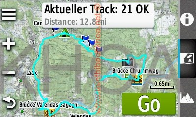 GARMIN Oregon 600-Serie - Track on Map