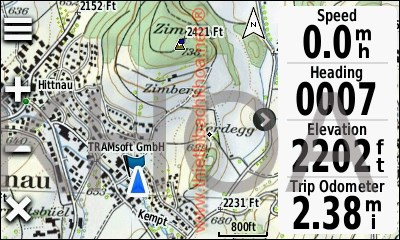 GARMIN Oregon 600-Serie - Topographic map of Switzerland (pattern view)