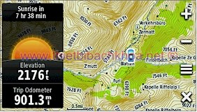 GARMIN Montana 650t - Topographic map of Europe, Zermatt